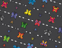 Geometric Butterfly Pattern