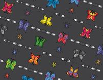 Geometric Butterfly Pattern