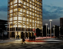 Exterior building Corona render