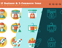 12 Business & E-Commerce Icons