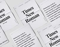 Times New Roman | Specimen