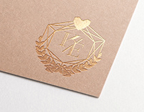 Wedding Design | Initials emblem and wedding invitation