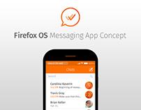FirefoxOS Messaging App Concept — 2014