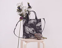 Printed Leather bags - ALXNDRA