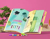 Summer kid bottle brochure