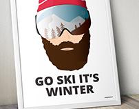Customized Ski Poster