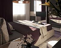 Purple Master Bed Room