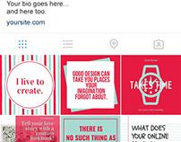 Branded Social Media Posts