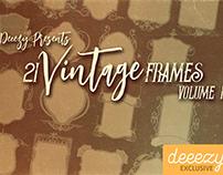 21 Free Vintage Frames 1