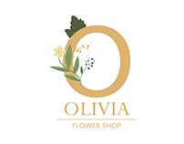 Flower shop design logo