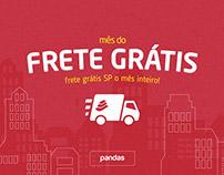 Pandas.com.br | Campanha Frete Grátis