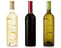 Wine labels for Žunar Wines