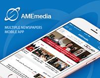 AMEmedia - Multiple Newspapers Mobile App