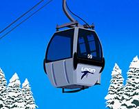 Loon Mountain Ski Resort Poster