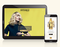 Dessange Canada website strategy and design