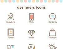 Portfolio icons for graphic designers