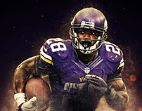 Adrian Peterson Autographed Poster