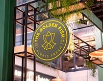 Golden fish Logo process