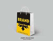 Brand bag design mockup
