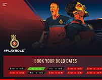 RCB | IPL T20 Cricket Club Website Concept