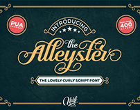 Alleyster The Lovely Curly Script Font