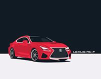 2019 Lexus RC F Car Illustration