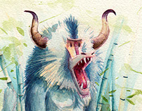 Blue Baboon Commission & other Illustrations Vol.1