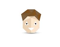 Mr. Triangle (flat illustration)