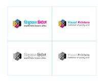 Visual Printer logo design