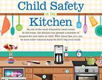 Child Safety in the Kitchen Infographic