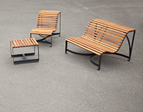 Outdoor Benches for Warsaw University of Social Science