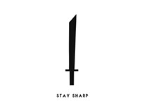 Stay Sharp - Simple Ending - Motion Graphic