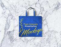 Free Non-Woven Shopping Bag Mockup PSD