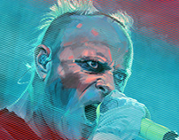 KEITH FLINT tribute / VIBE 001 - painting