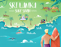 Surf Map Sri Lanka