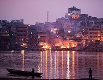 The ghats of Varanasi