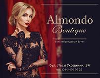 Billboard advertising for Almondo Boutique