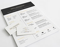 Free Clean Resume Template with Business Card