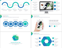 Blue Creative business design PowerPoint template
