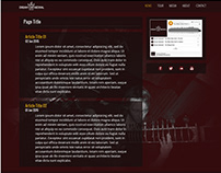 Web design and logo concept for a fictional rock band.