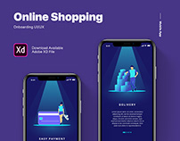 E-Commerce Mobile App Onboarding UI - Free Download