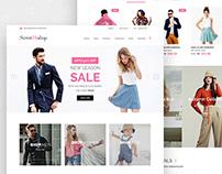 Sweet16shop - Ecommerce website
