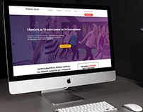 Fitness trainer Marina Zeus - Landing Page Design
