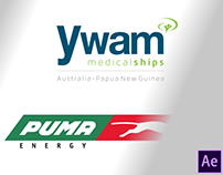 Logo reveal animation | YWAM Medical ships & Puma