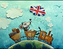"""Illustrations for """"Mia Mouse on the road"""""""