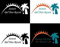 SunSet Del Mar Resort Logo Design