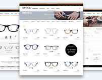 E-commerce website design - OTTICA