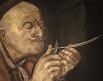 old man digital painting