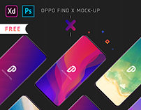 Oppo Find X Mockup's