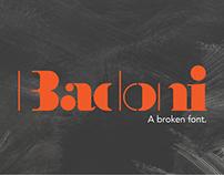 Badoni — A Broken Font
